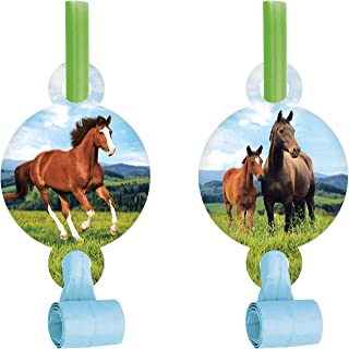 Wild Horse Party Blowers, 8 ct