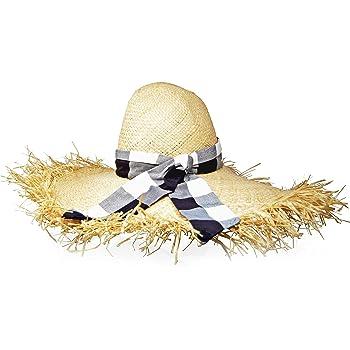 GIGI BURRIS Millinery ETE Raffia Hat | Natural and Gingham