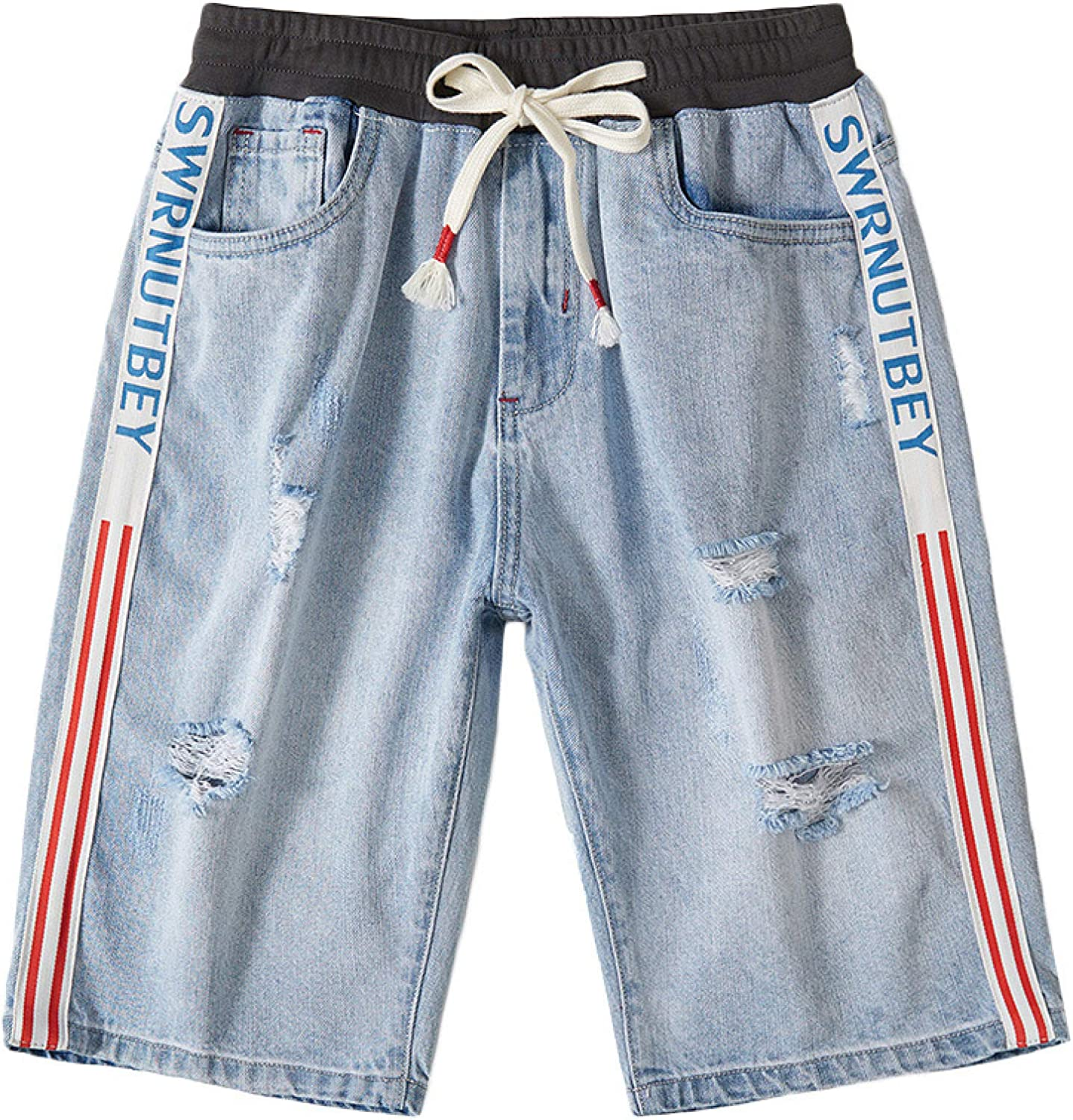 Generico Men's Shorts Spring and Summer Broken Max 47% OFF Elastic Selling and selling Wais Hole