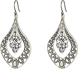 Lucky Brand - Sahara Dust Filligree Oblong Earring