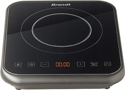 Brandt TI1FSOFT Placa de inducción portátil, 2000 W, Negra