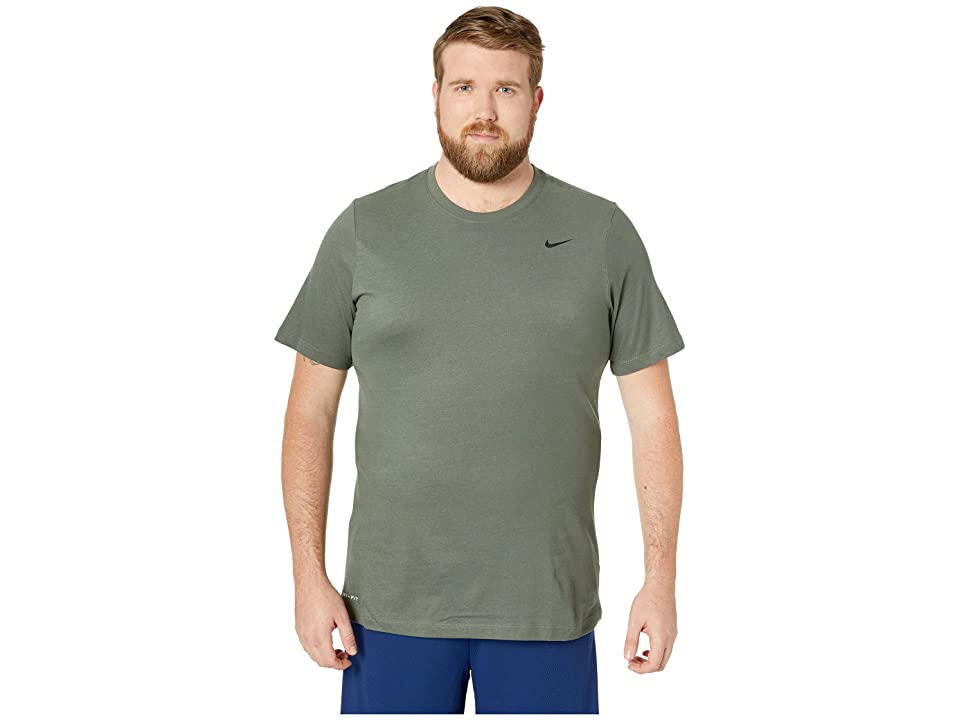 Nike Big Tall Dry Tee Dri-Fit Cotton Crew Solid (Mineral Spruce/Spruce Fog/White) Men