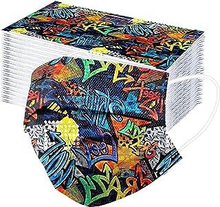 N-B 50/100 Pcs Niños Tela de 3 Capas Colores Dibujos de Arte Abstracto Filtros de Alta Densidad 2021 Industrial Cómodo Niñ...