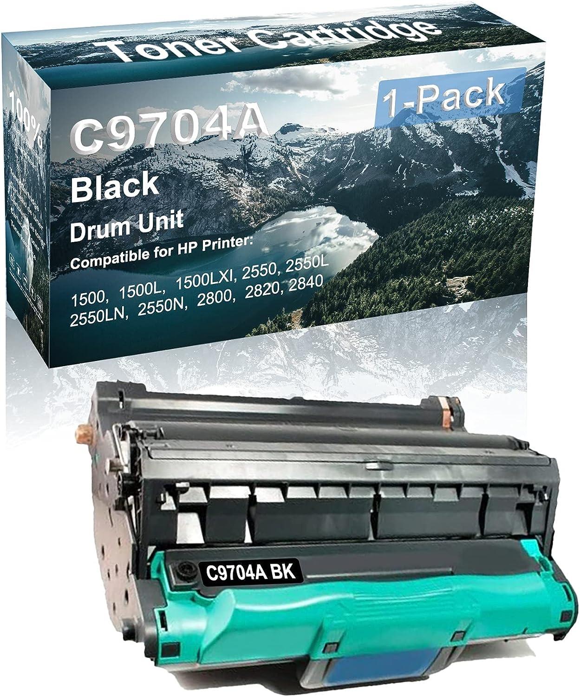 1-Pack (Black) Compatible 2550 2550L 2550LN 2550N Printer Drum Unit Replacement for HP C9704A Drum Kit