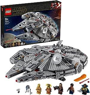 LEGO 75257 Star Wars Millennium Falcon Starship Construction Set, with Finn, Chewbacca, Lando Calrissian, Boolio, C-3PO, R...