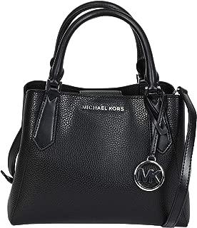 Michael Kors Kimberly Pebble Leather Satchel Crossbody Bag