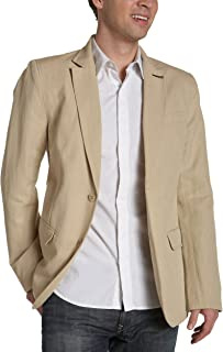 French Connection Young Men's Urban Cotton Linen Blazer,Oatmeal,36
