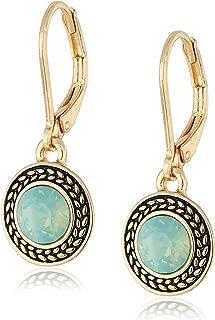 Napier Silk Swarovski Crystal Drop Earrings