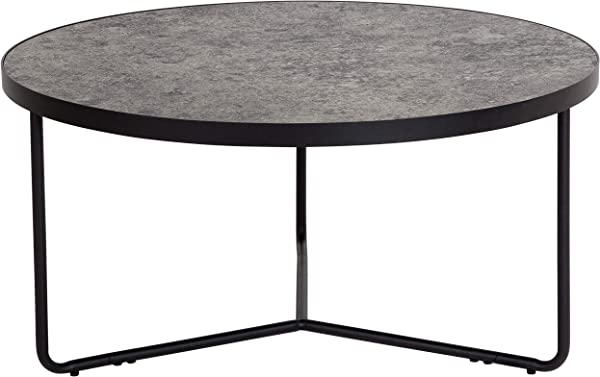 Flash Furniture Providence Collection 31 5 Round Coffee Table In Concrete Finish