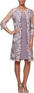 Women's Tea Length Mock Jacket Dress (Petite and Regular Size)