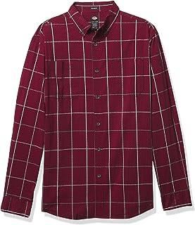 Dickies Men's Long Sleeve Flex Plaid Woven Shirt