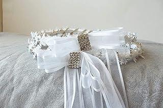 Stefania,snowflake Stefana Wedding headpieces,gift for the couple,Greek Orthodox Wreaths,bridal crowns,keepsake gift
