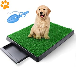 TSIANHUZY Dog Grass Pad with Tray, Artificial Turf Dog Grass Pee Pad Potty Training for Indoor Outdoor Use, Washable Repla...