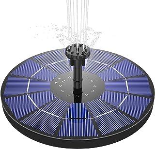AISITIN Solar Springbrunnen 3.5W Solar Teichpumpe mit 180mm Durchmesser Solar Panel Eingebaute 1500mAh Batterie Wasserpump...