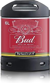 Cerveza PerfectDraft un barril de 6 litros de Bud King of Beers - Lager. Máquina de tiro casera. Incluye un depósito de 5 euros.