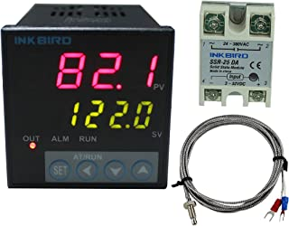 Inkbird ITC-106VH 100 to 240ACV PID Temperature Thermostat Controllers F and C K Sensor 25DA SSR Solid State Relay for Sous Vide Home Brewing