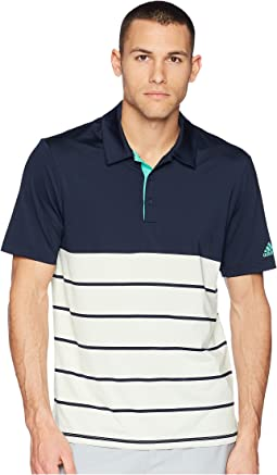 adidas Golf Ultimate Heather Stripe Polo