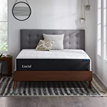 Lucid 12 Inch Gel Memory Foam Mattress – Medium Feel – Supportive - Hypoallergenic Bamboo Charcoal – Breathable Cover