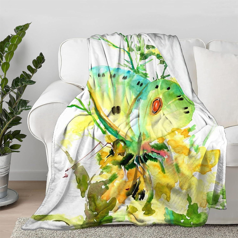 Lokapala Yellow Butterfly Throw Quilt Bedspread Blanket It is very popular Cheap sale Flannel