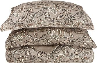 Superior Premium Cotton Flannel Duvet Cover Set, All Season 100% Brushed Cotton Flannel Bedding, 3-Piece Set with Duvet Co...