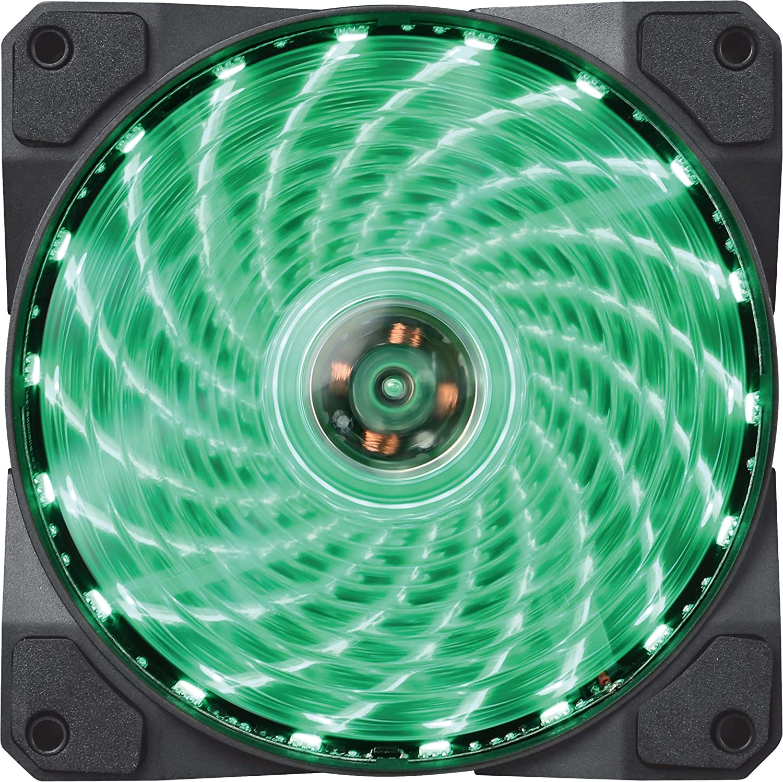 Elegant Marvo FN10GN Case Fan 120 mm sale PC Anti-Vibration Low LED for Green