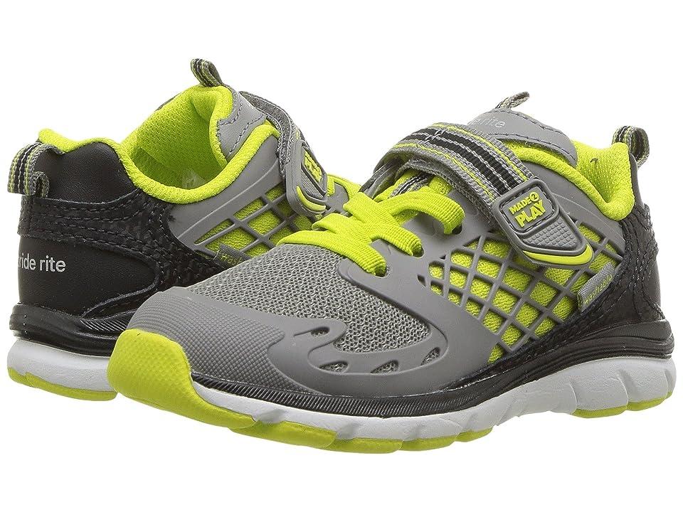 Stride Rite M2P Breccen (Toddler) (Grey/Lime) Boys Shoes