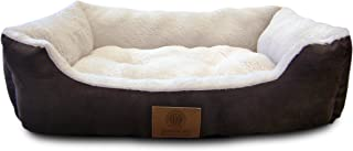 American Kennel Club Suede Cuddler Solid Pet Bed, Large