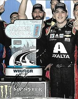 Signed Alex Bowman Photograph - 2019 AXALTA 1st Win Chicagoland WIN 8x10 COA B) - Autographed NASCAR Photos