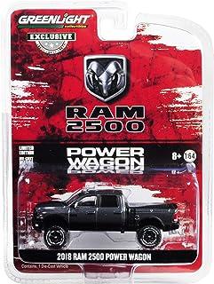 2018 Dodge Ram 2500 Power Wagon Pickup Truck Granite Crystal Dark Gray Hobby Exclusive 1/64 Diecast Model Car by Greenlight 30015