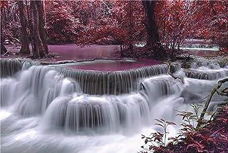 1000ピース ジグソーパズル 森の中を流れる滝 秘境 サイズ70×50cm