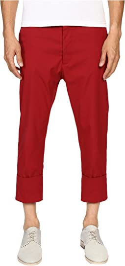 James Bond Stretch Cotton Cropped Trousers