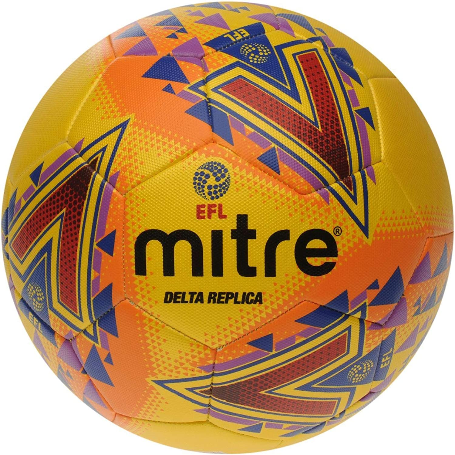 Official Mitre English Football League EFL Delta Football Yellow Soccer Ball