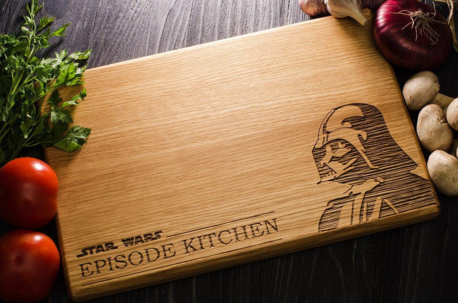 Star Wars Darth Vader EPISODE KITCHEN Personalized Engraved Cutting Board - Girlfriend gift Wedding Gift Anniversary Gifts Housewarming Gift (9.8 x 13.8 inch) star01st