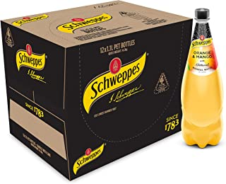 Schweppes Orange and Mango Mineral Water, 12 x 1.1L