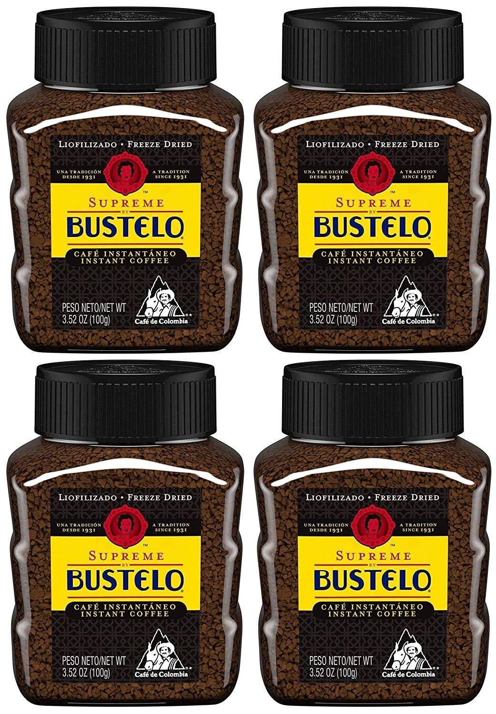 Bustelo Supreme Regular Freeze-Dried Coffee trust Bargain Instant 3.52-Ounce