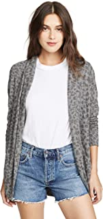 SUNDRY Women's Leopard Print Cardigan