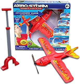 Top Secret Toys Aero-Storm Aerobatic Toy Stunt Plane with Air Powered Engine! High Flying Trick Airplane   Propeller Power...