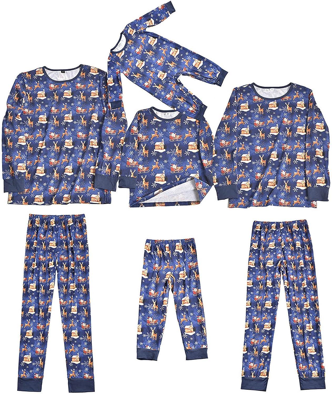 Matching Family Pajamas Womens Sleepwear Mum and Dad Cotton Pyjamas Suits Holiday Pjs Warm Christmas Set
