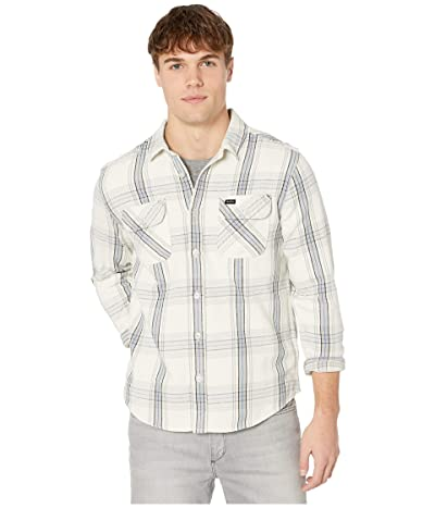 RVCA Reverberation Flannel Long Sleeve Button Up Shirt (Silver Bleach) Men