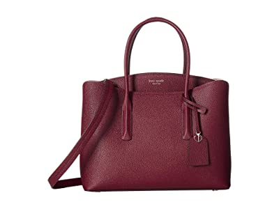 Kate Spade New York Margaux Large Satchel (Cherrywood) Satchel Handbags