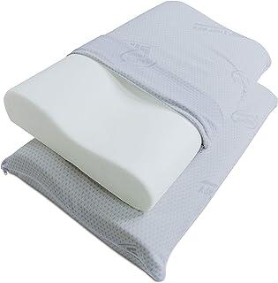 Baldiflex Pack 4 Almohadas Cervical con Altura Ajustable, Reduce Dolores Cervicales Forma Ergonómica