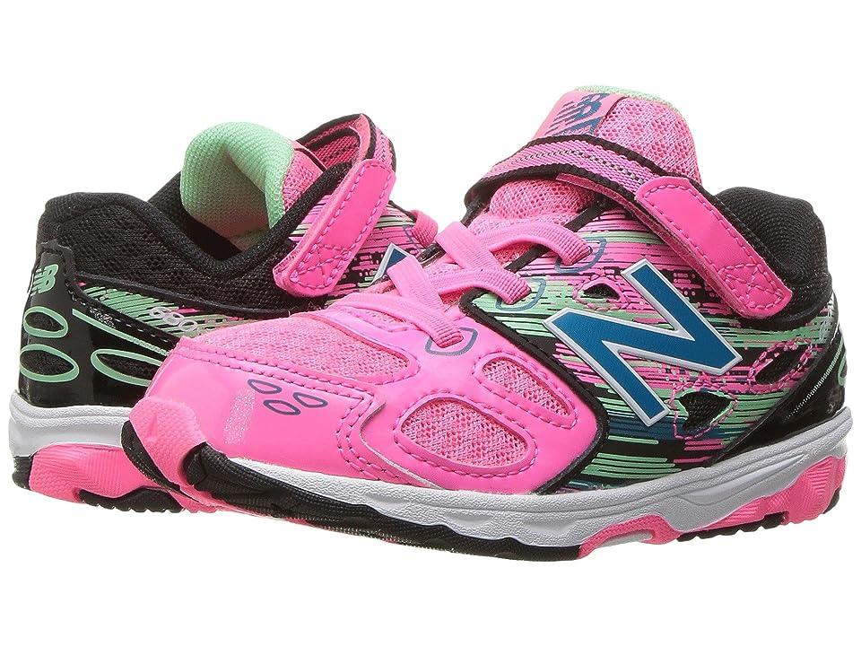 New Balance Kids KA680v3 (Infant/Toddler) (Pink/Black) Girls Shoes