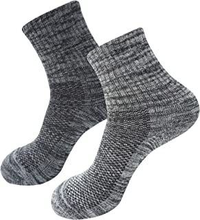 SEOULSTORY7 5pack Men's Mid Cushion Low Hiking/Camping/Performance Socks