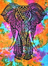 Colorful Tie Dye tapestry Elephant Tapestry wall hanging Hippie Tapestry Wall hanging Hippy Tapestry Bohemian Bedding Bedspread Indian Dorm Decor Psychedelic Tapestry Bed Cover