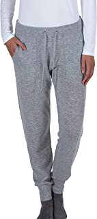 JENNIE LIU Women's 100% Pure Cashmere Knitted Jogger Pants