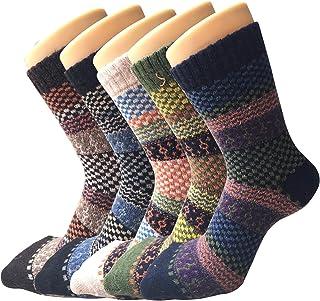 5 pares de mujeres en clima frío cálido cálido y grueso equipo de lana Casual invierno lana calcetines