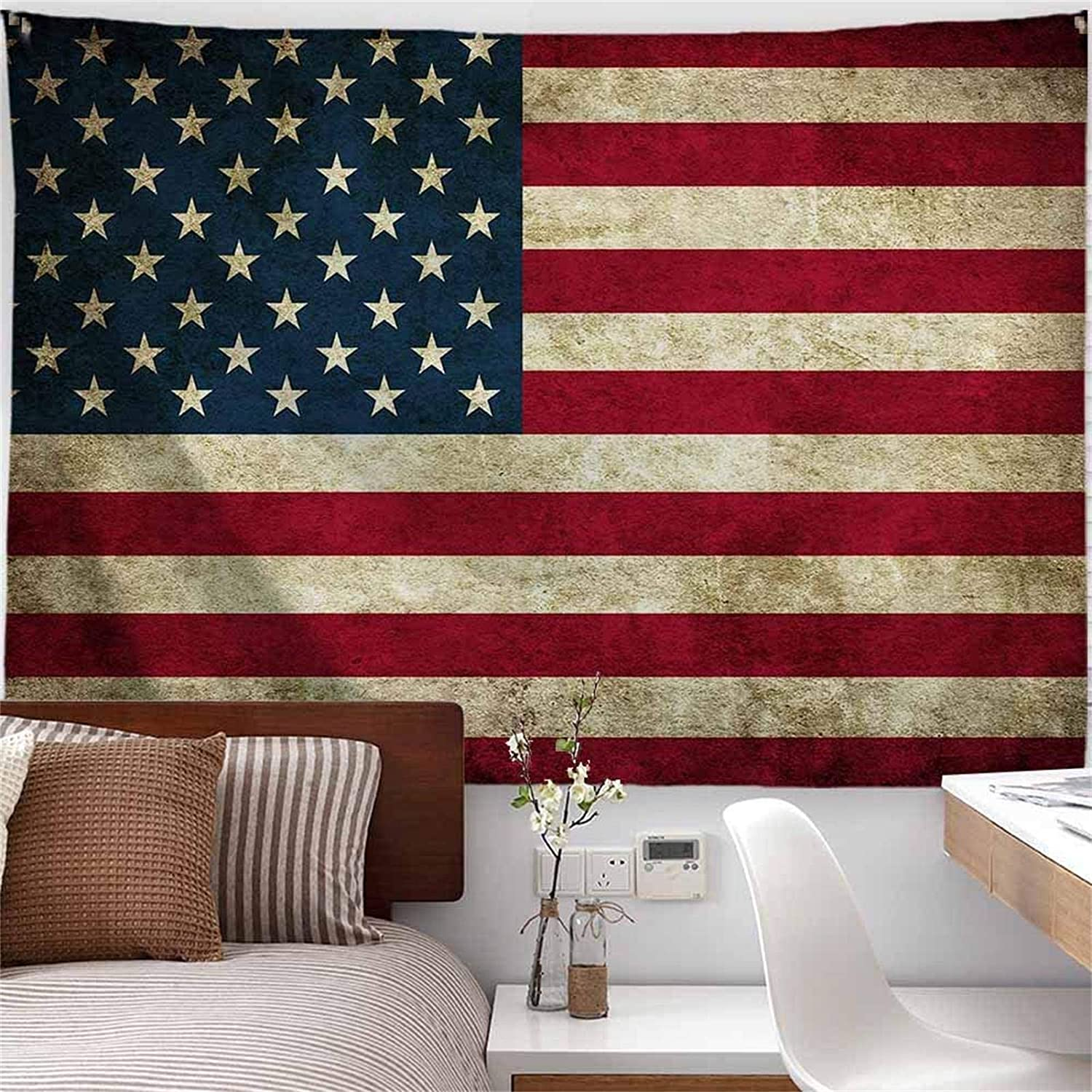 PROCIDA New arrival American Flag Tapestry Wall Retro Hanging Vintage Recommendation Stars
