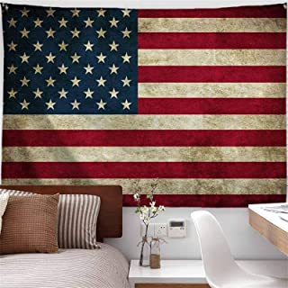 PROCIDA American Flag Tapestry Wall Hanging Vintage Retro Stars and Stripes USA Flag..