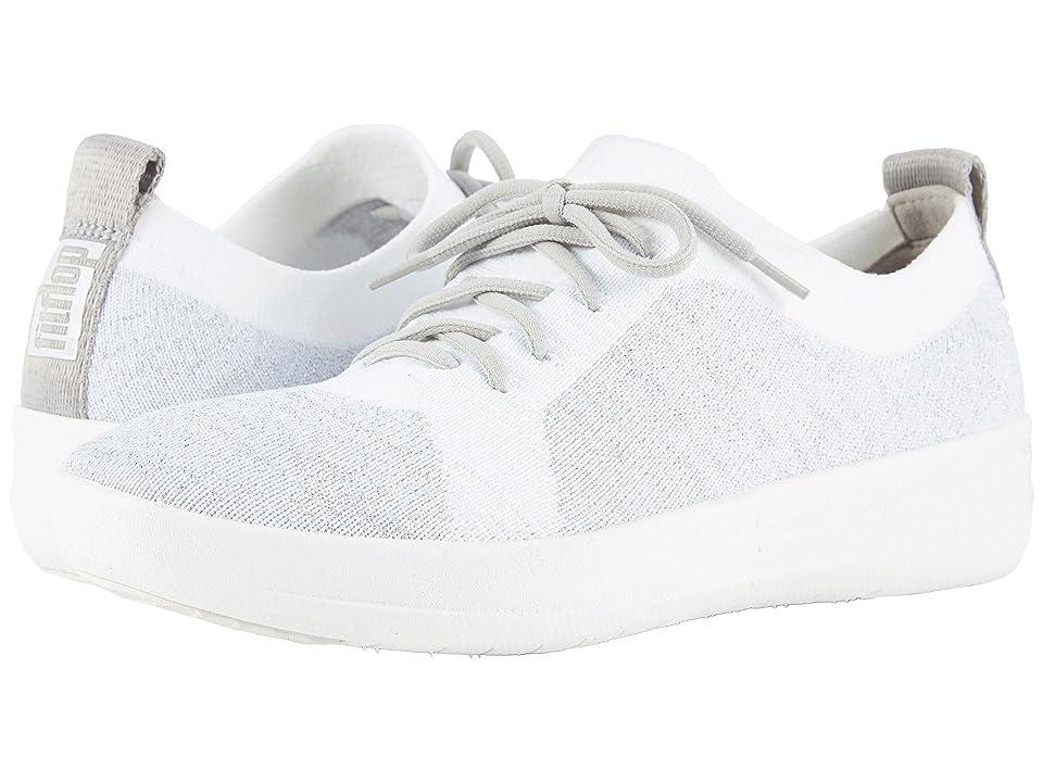 FitFlop F-Sporty Uberknit Sneakers (Metallic Silver/Urban White) Women