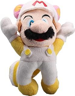 uiuoutoy Super Mario Bros Flying White Raccoon Mario Plush 8''
